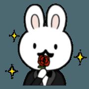 สติ๊กเกอร์ไลน์ The rabbit with a mustache.