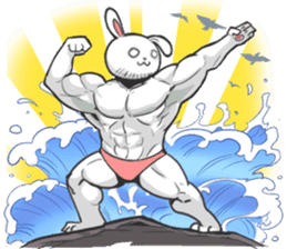 Rabbo the Muscle Rabbit 2: Reloaded sticker #5407244