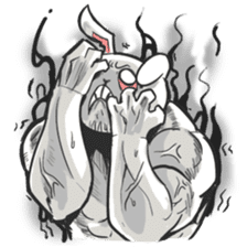 Rabbo the Muscle Rabbit 2: Reloaded sticker #5407256