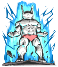 Rabbo the Muscle Rabbit 2: Reloaded sticker #5407257