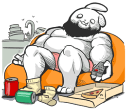 Rabbo the Muscle Rabbit 2: Reloaded sticker #5407277