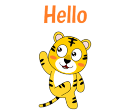 Conversation with tiger English sticker #5412286