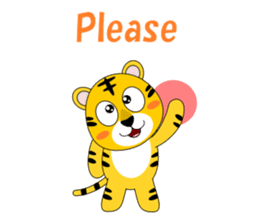 Conversation with tiger English sticker #5412294