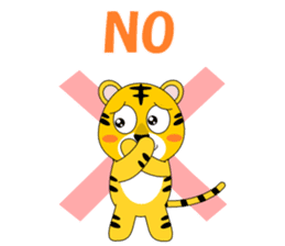 Conversation with tiger English sticker #5412297