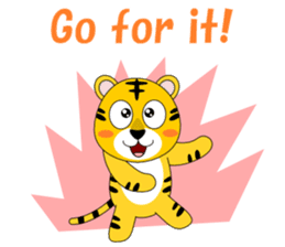 Conversation with tiger English sticker #5412301