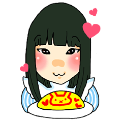 """Stickers of the maid cafe""""AKIDORA"""""""