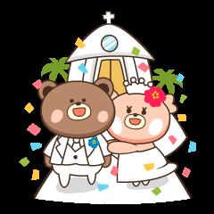 Wedding sticker~Kumako&Kumata