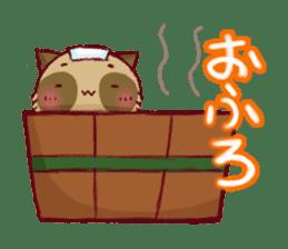 Traveler of Raccoon dog sticker #5431352