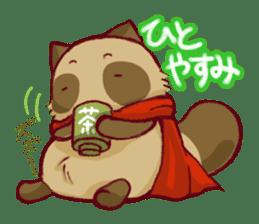 Traveler of Raccoon dog sticker #5431369