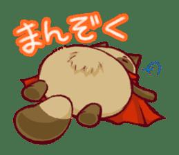 Traveler of Raccoon dog sticker #5431373