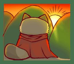 Traveler of Raccoon dog sticker #5431379
