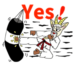 legendary karate fighter, Goat hermit1 sticker #5442504