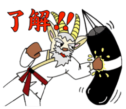 legendary karate fighter, Goat hermit1 sticker #5442524