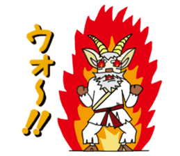legendary karate fighter, Goat hermit1 sticker #5442532