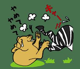Zebra world sticker #5445906