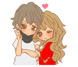Girls Couple in Love sticker #5448660