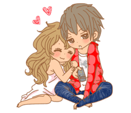 Girls Couple in Love sticker #5448661