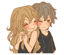 Girls Couple in Love sticker #5448662