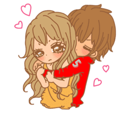 Girls Couple in Love sticker #5448663
