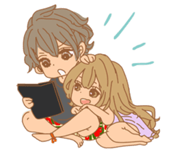Girls Couple in Love sticker #5448665
