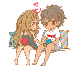 Girls Couple in Love sticker #5448672