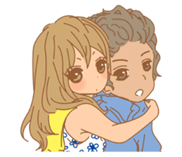 Girls Couple in Love sticker #5448674