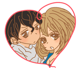 Girls Couple in Love sticker #5448677
