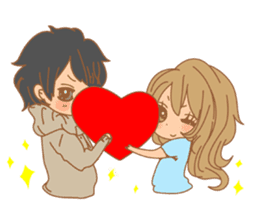 Girls Couple in Love sticker #5448678