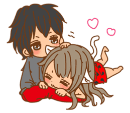 Girls Couple in Love sticker #5448685
