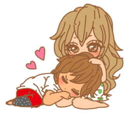 Girls Couple in Love sticker #5448686