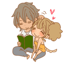 Girls Couple in Love sticker #5448691