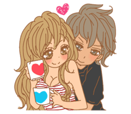 Girls Couple in Love sticker #5448692