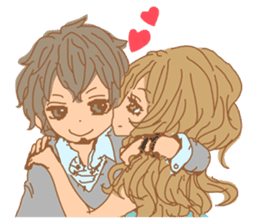 Girls Couple in Love sticker #5448695