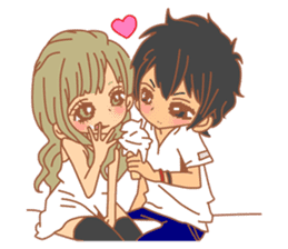 Girls Couple in Love sticker #5448696
