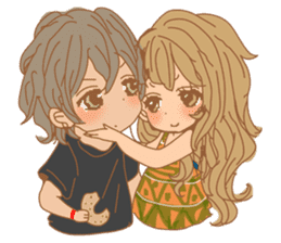 Girls Couple in Love sticker #5448697