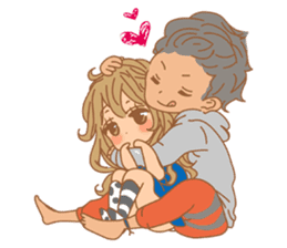 Girls Couple in Love sticker #5448698