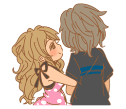 Girls Couple in Love sticker #5448699