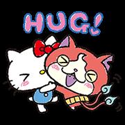สติ๊กเกอร์ไลน์ โยไควอทช์ × Sanrio characters
