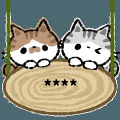 สติ๊กเกอร์ไลน์ Cat and rabbit custom sticker