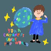 สติ๊กเกอร์ไลน์ your cuteness save my world