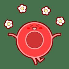 Mr. Red Blood Cell sticker #5470344