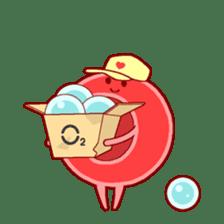 Mr. Red Blood Cell sticker #5470352