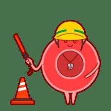 Mr. Red Blood Cell sticker #5470354