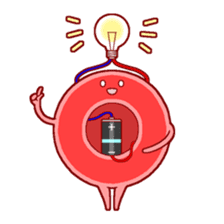 Mr. Red Blood Cell sticker #5470359