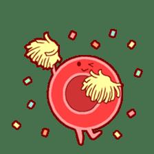 Mr. Red Blood Cell sticker #5470362