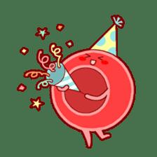 Mr. Red Blood Cell sticker #5470363