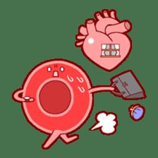 Mr. Red Blood Cell sticker #5470369