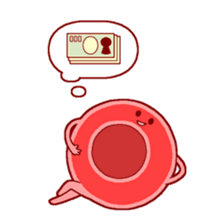 Mr. Red Blood Cell sticker #5470372