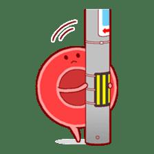 Mr. Red Blood Cell sticker #5470379