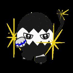 Kuro-tama, the ice hockey player
